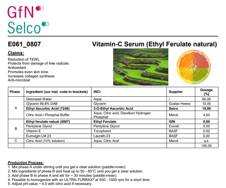 Vitamin-C Serum (Ethyl Ferulate natural)