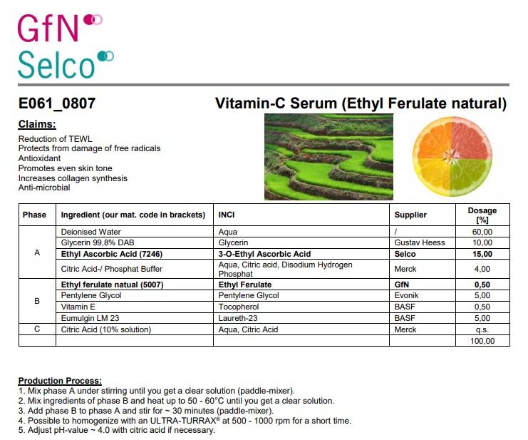 Vitamin-C Serum (Ethyl Ferulate natural)